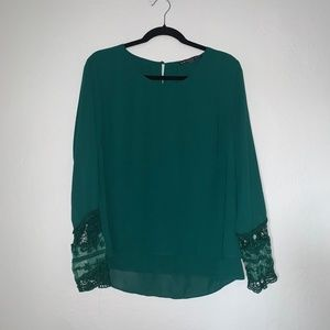 Brixon Ivy Long Sleeved Emerald Green Top